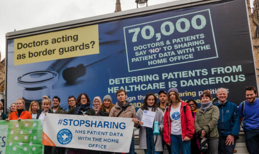 Go home vans taunt prime minister as doctors scale up campaigning efforts