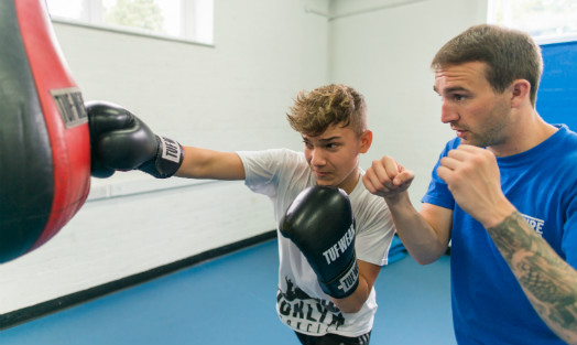 Non-contact 'boxing therapy' breeding optimism in Bristol's young