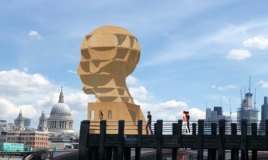 'Head above water' sculpture unveiling set for London's South Bank